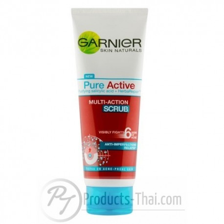 Garnier Pure Active Multi-Action Scrub (100ml) Facial Wash