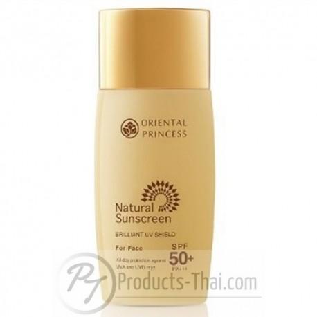 Oriental Princess Natural Sunscreen Brilliant UV Shield For Face SPF50+/PA+++ (50ml)