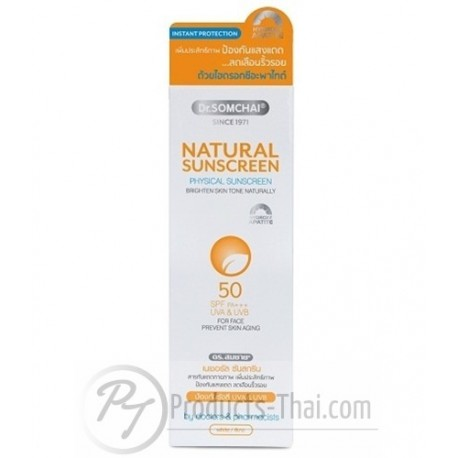 Dr.Somchai Natural Sunscreen SPF50+/PA+++ Prevent Skin Aging for Face (20g)