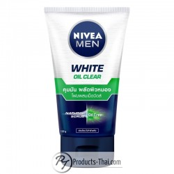 Nivea Men White Oil Clear Natural & Oil-Free Facial Scrub Foam