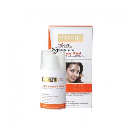 Smooth E Thai : Smooth E Physical White Babyface UV & Pollution Shield (Size 18 g.)