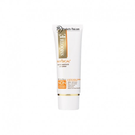 Smooth E Thailand : Smooth E Physical White Babyface UV Expert Sunscreen (Beige) (Size 40g.)