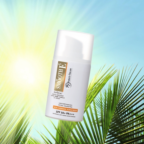 Smooth E Sunscreen Thai : Smooth E Physical White Babyface UV Expert Extra Fluid Formula